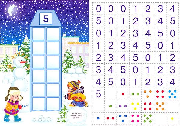 Домик с картонной коробДидактическая игра по математике