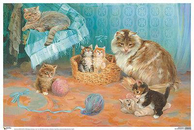 кошка с котятами картинка