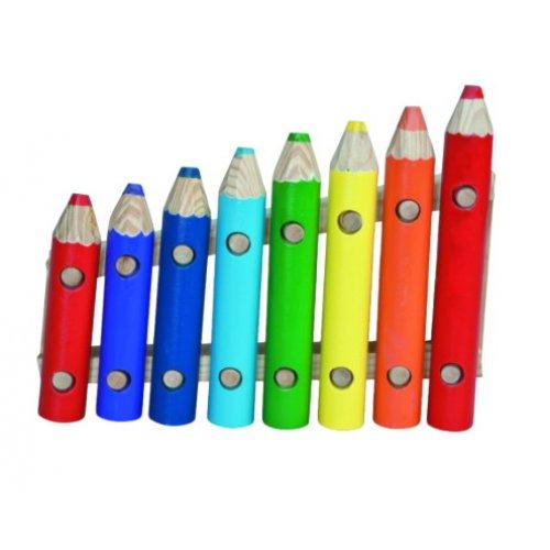 Ксилофон из карандашей